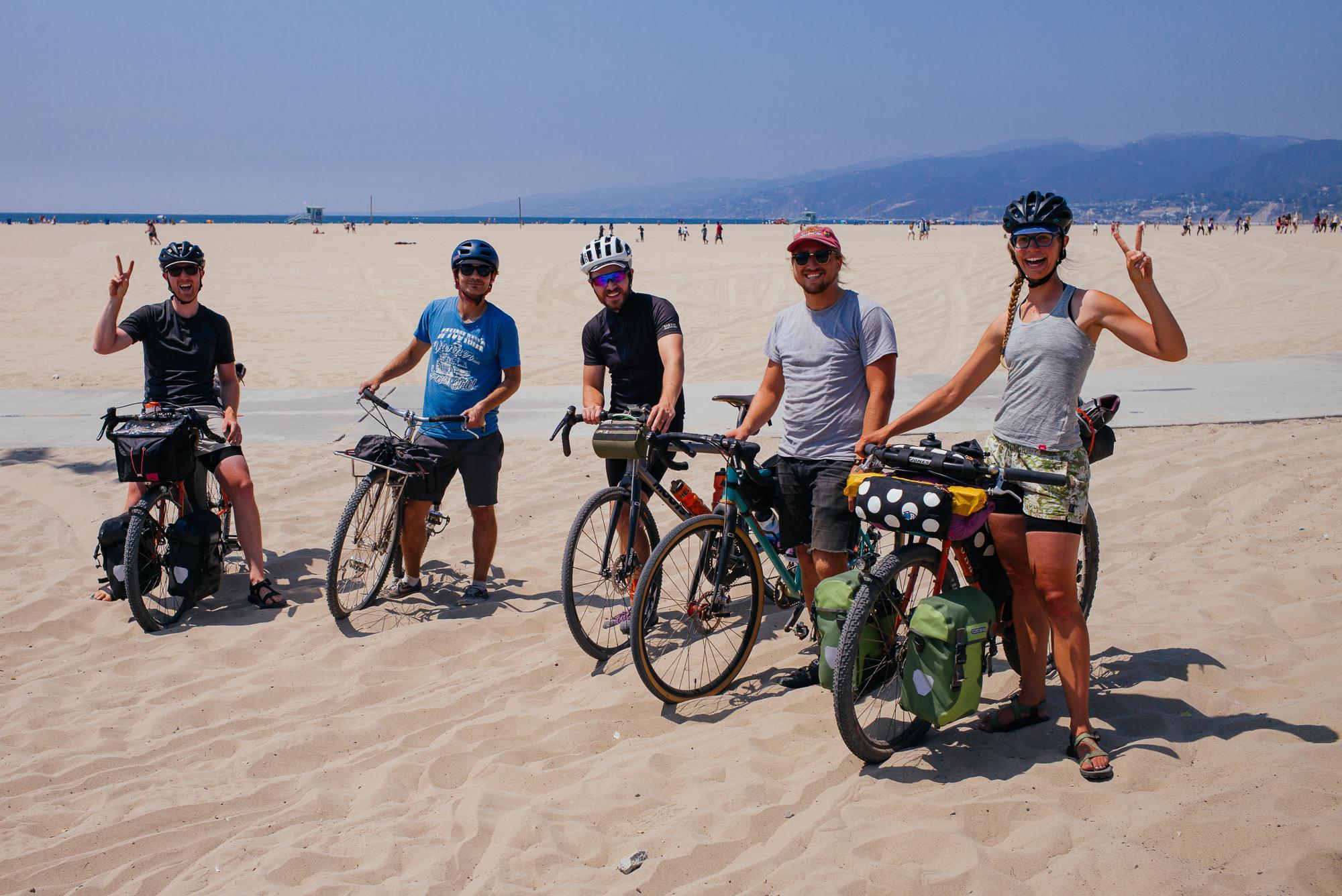 Sandy beach group photo