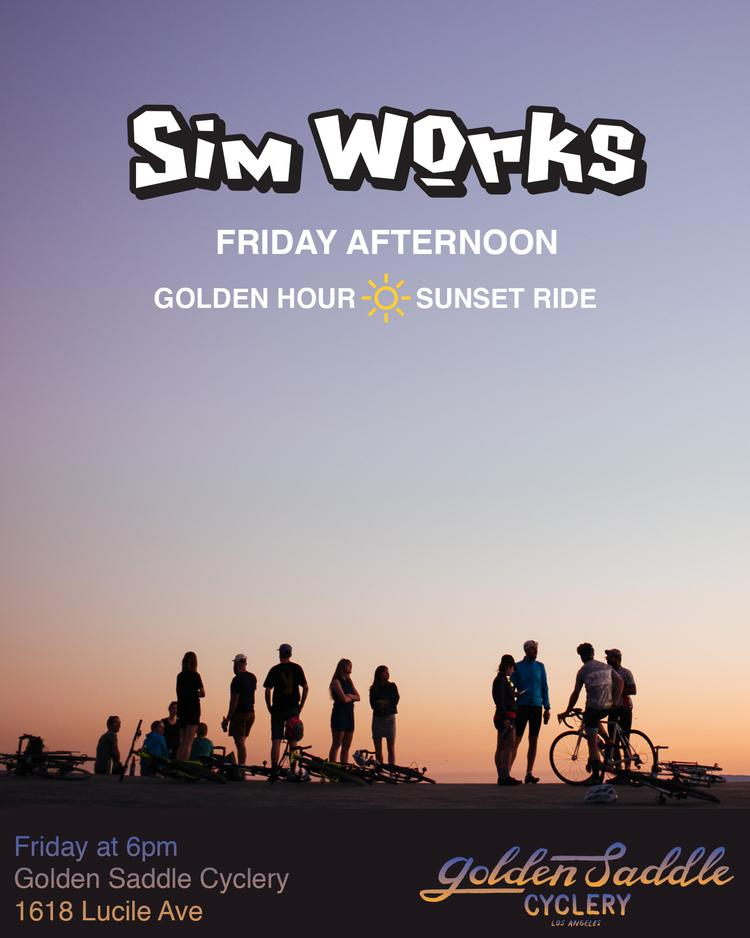 Sim Works Happy Hour Ride this Friday at Golden Saddle Cyclery