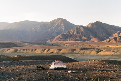 Wild camping outside of Tanguche