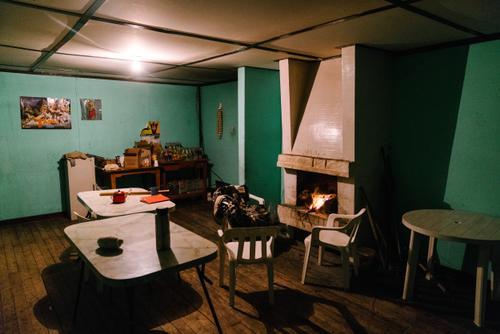 Inside Refugio Paron