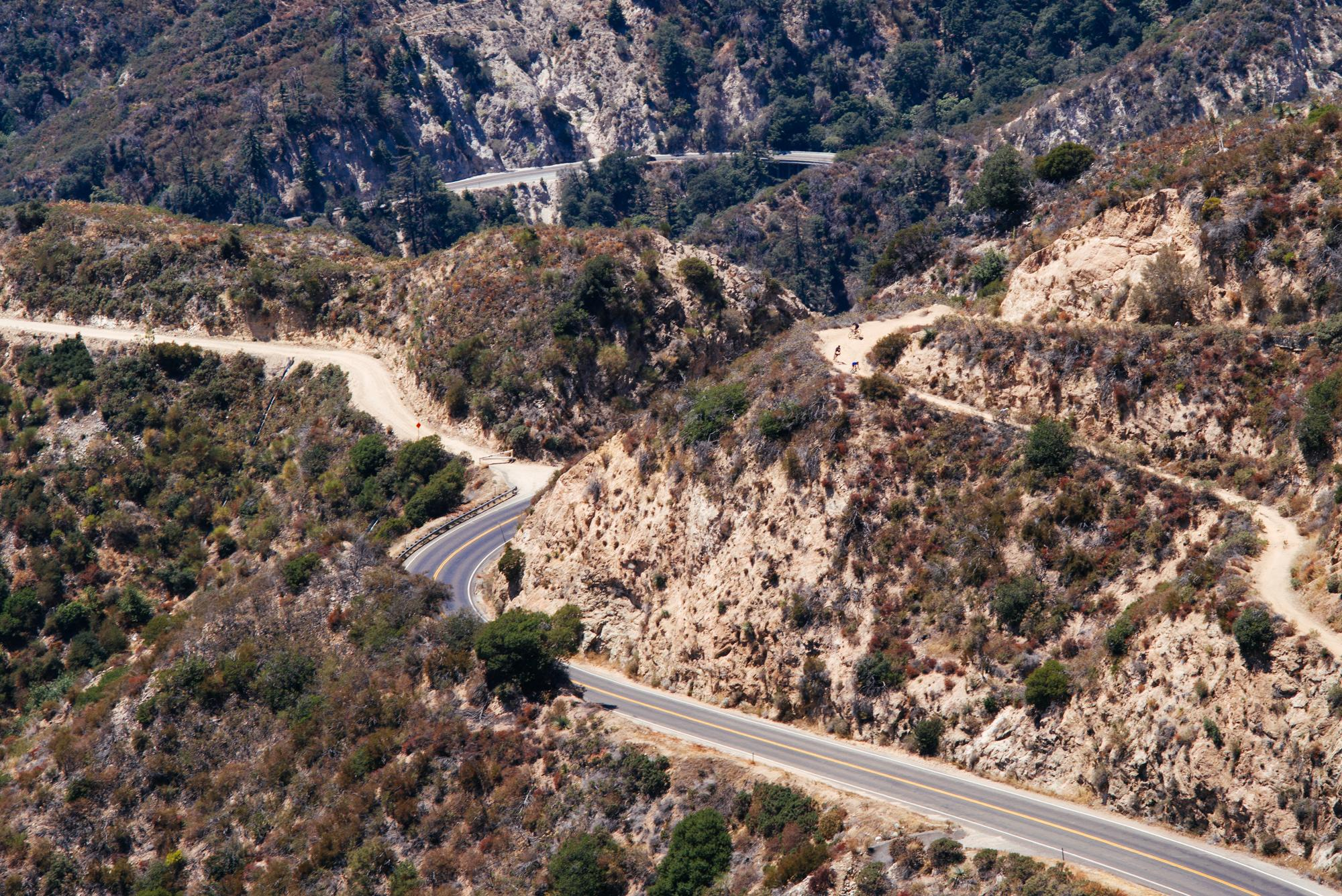 Droppin back down to the Angeles Crest Highway
