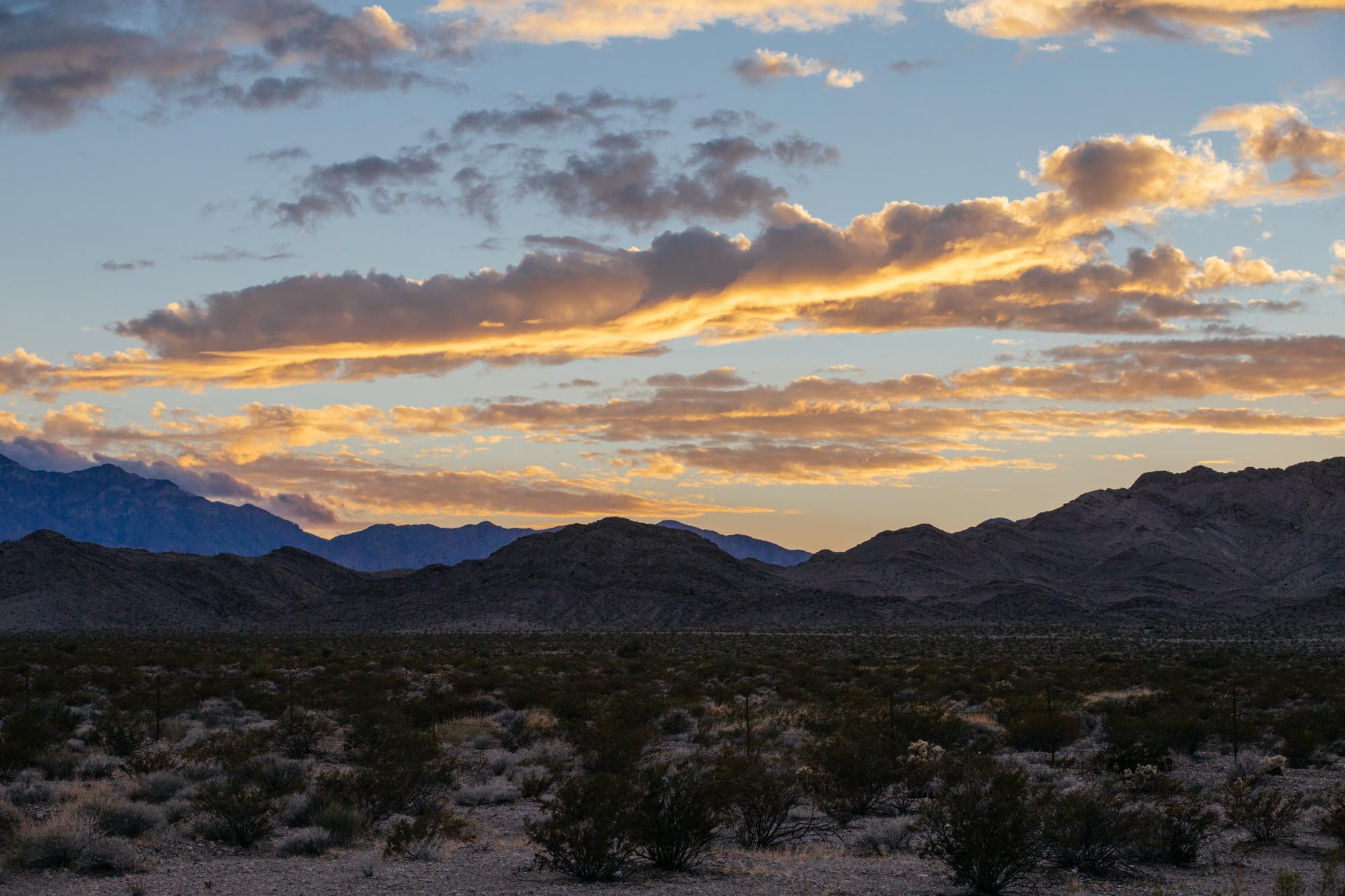 Sunsets in the Mojave.