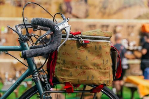 Vernor's touring bike and Poler Bag from Roll With It