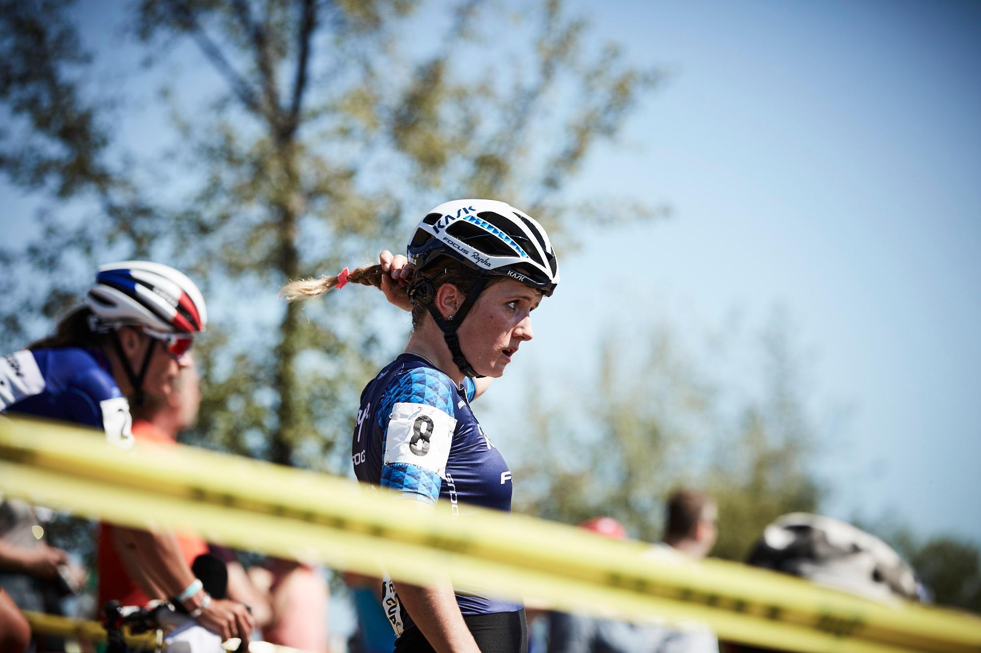 Ellen Noble 2nd, post race face 2.