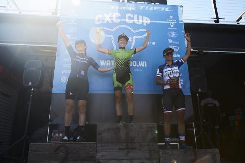 Obligatory podium shot.
