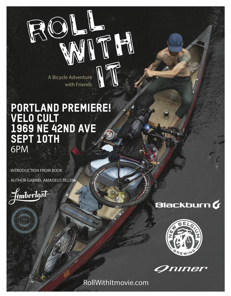 Blackburn Roll With It Premiere at Velo Cult in Portland on Saturday