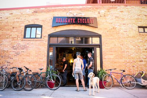 A warm welcome in Missoula at Hellgate Cyclery.