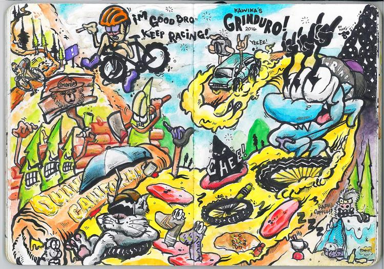 Grinduro Illustrated