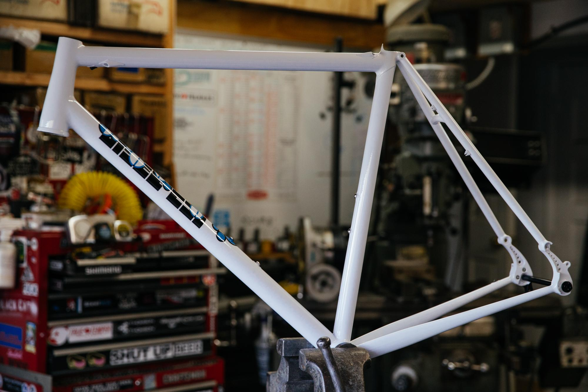 One of the latest production Black Cat road frames.
