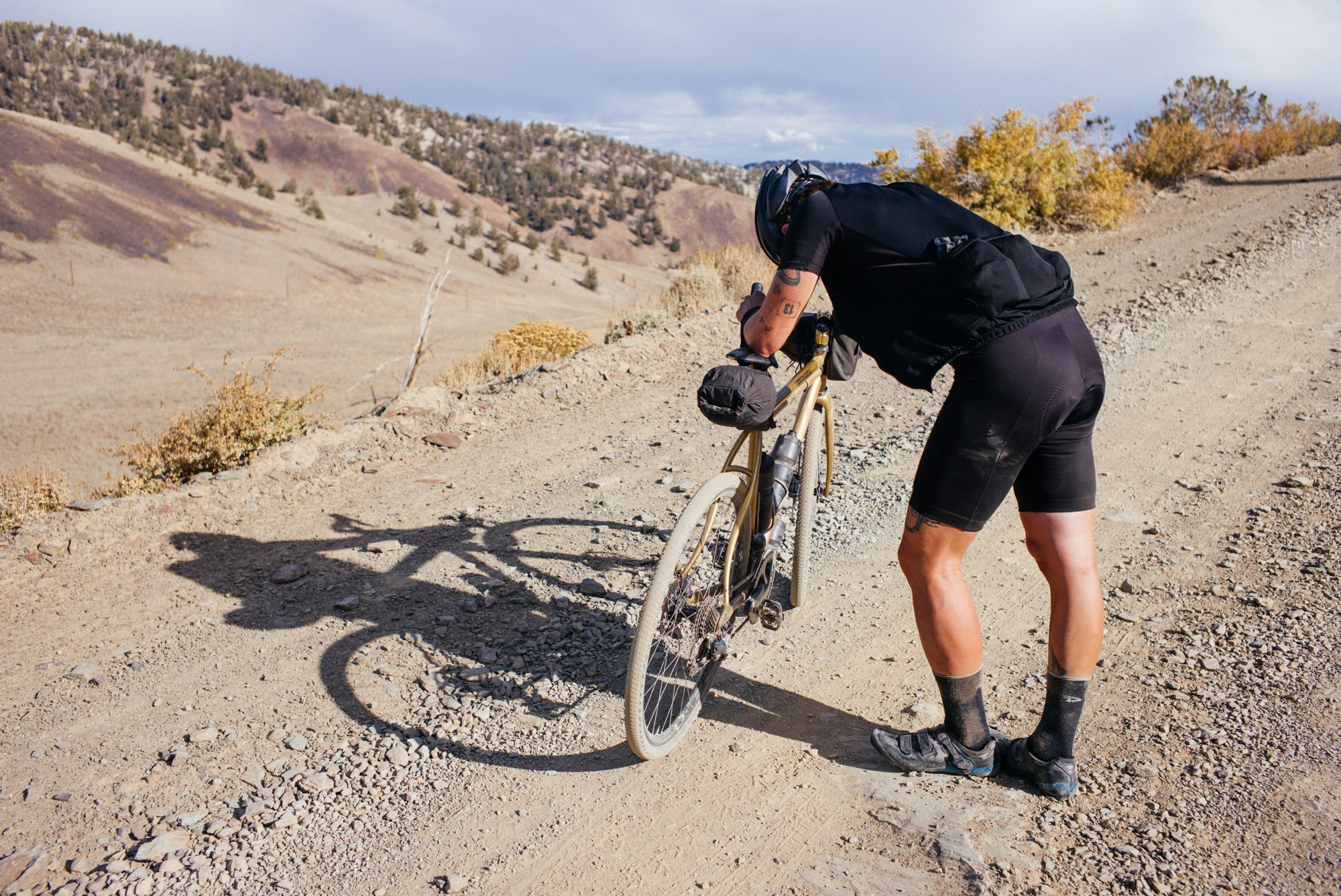 Riding Up White Mountain in the Inyo National Forest-89