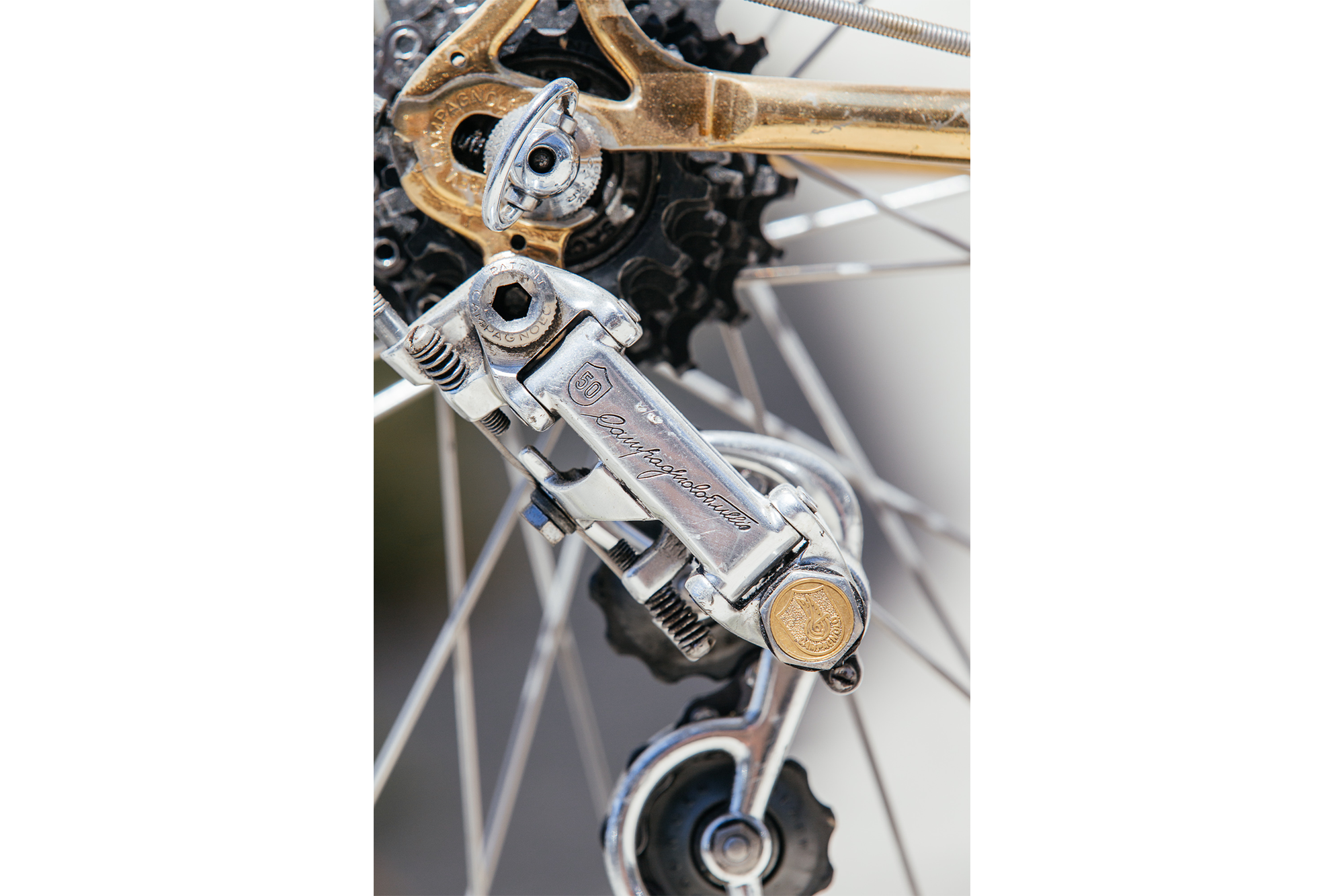 A Shifter Bikes Gilded Eddy Merckx Professional with Campagnolo 50th-22
