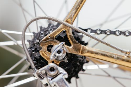 A Shifter Bikes Gilded Eddy Merckx Professional with Campagnolo 50th