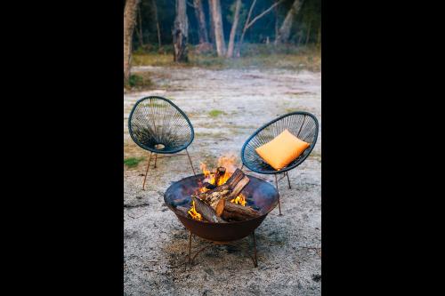 Warm fires.