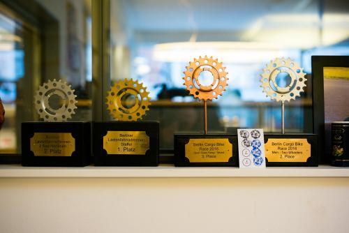 Trophy case display.
