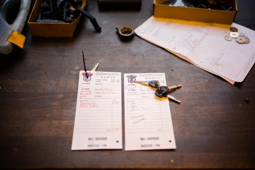Repair and service work orders.