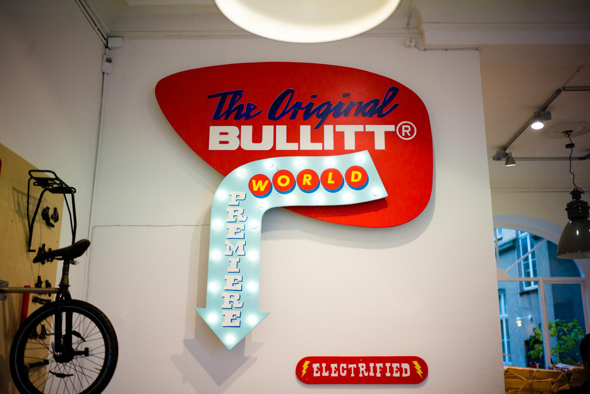 """The Original Bullitt"" shop decor."
