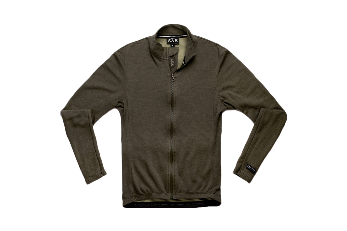 F'ck Yeah Olive Drab: Search and State Long Sleeve Merino Jersey