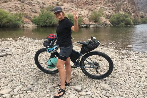 Jen and her first bikepackign trip - Aimee Gilchrist1