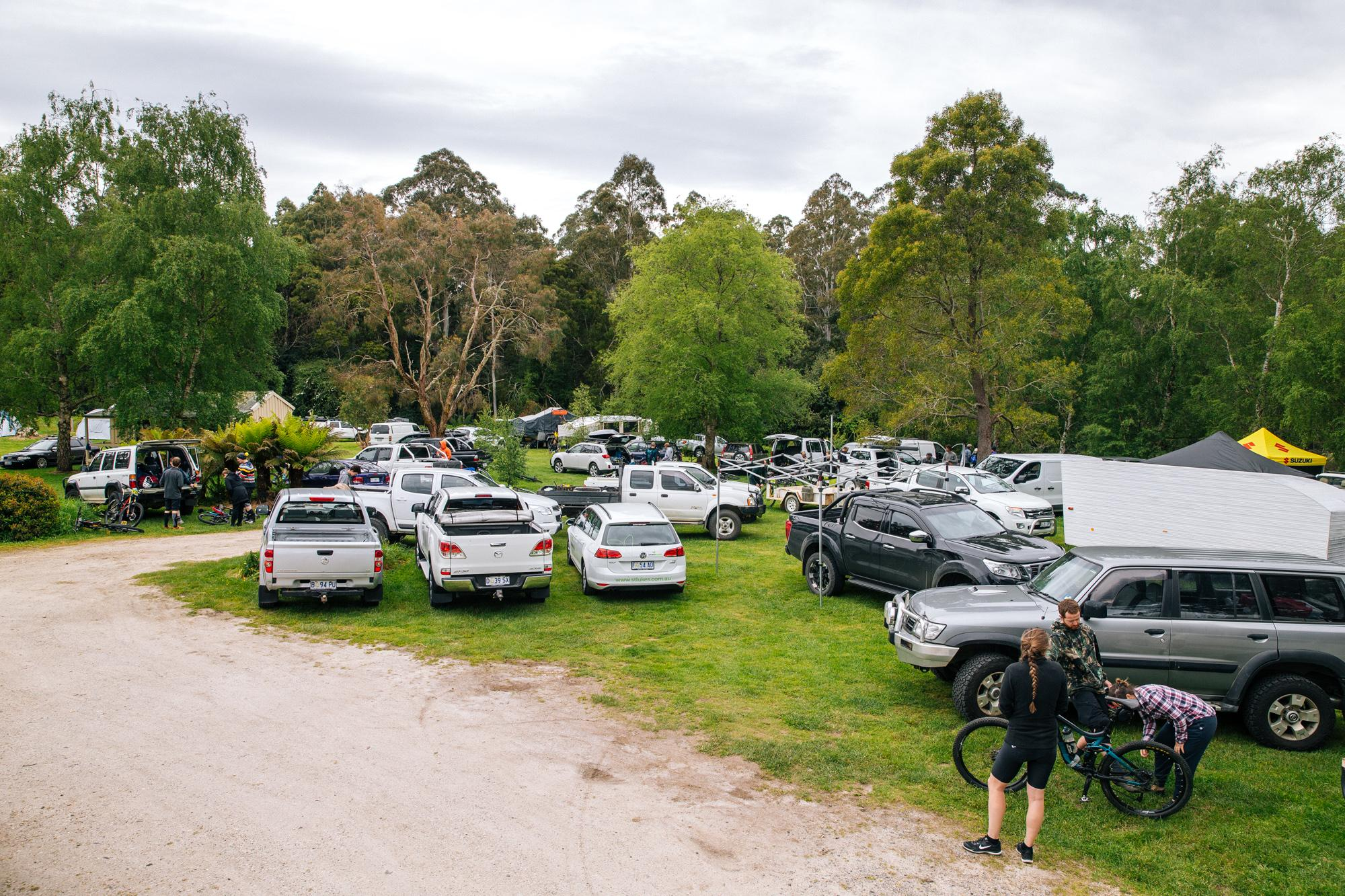 The campsite was full with enduro racers and their families. It was a weekend affair!
