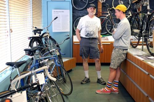 Hanging with Charlie Kelly at the Marin Museum of Bicycling!