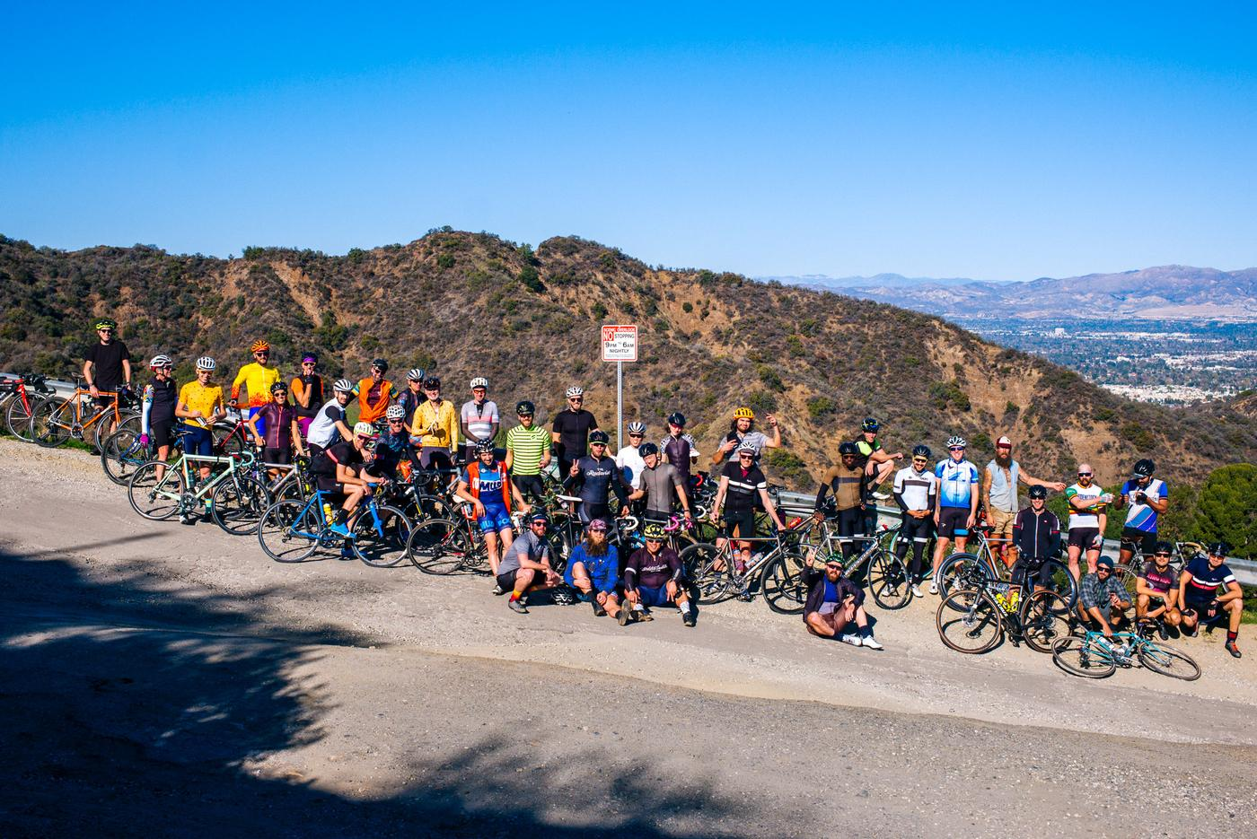 Riding in the Santa Monica Mountains with Golden Saddle and Rapha