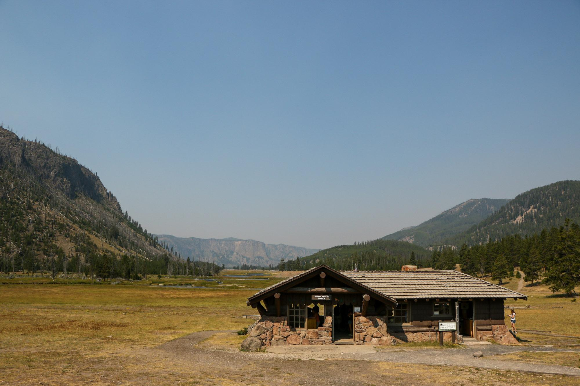 We attended a ranger-led program at this ranger station to complete our Junior Ranger program booklets!