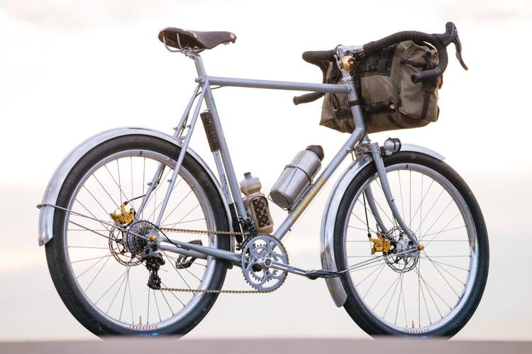 Benedict's Silver and Gold Crust Bikes Romanceur Touring Bike