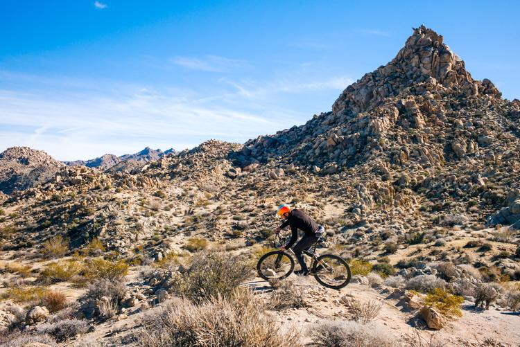 Riding Bikes in Joshua Tree on the Section 6 Trail Network
