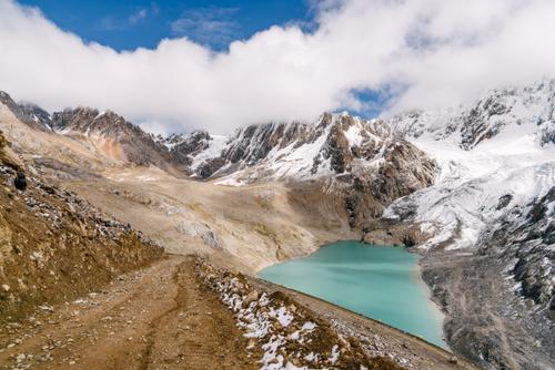 Cement dirt and glacial lakes
