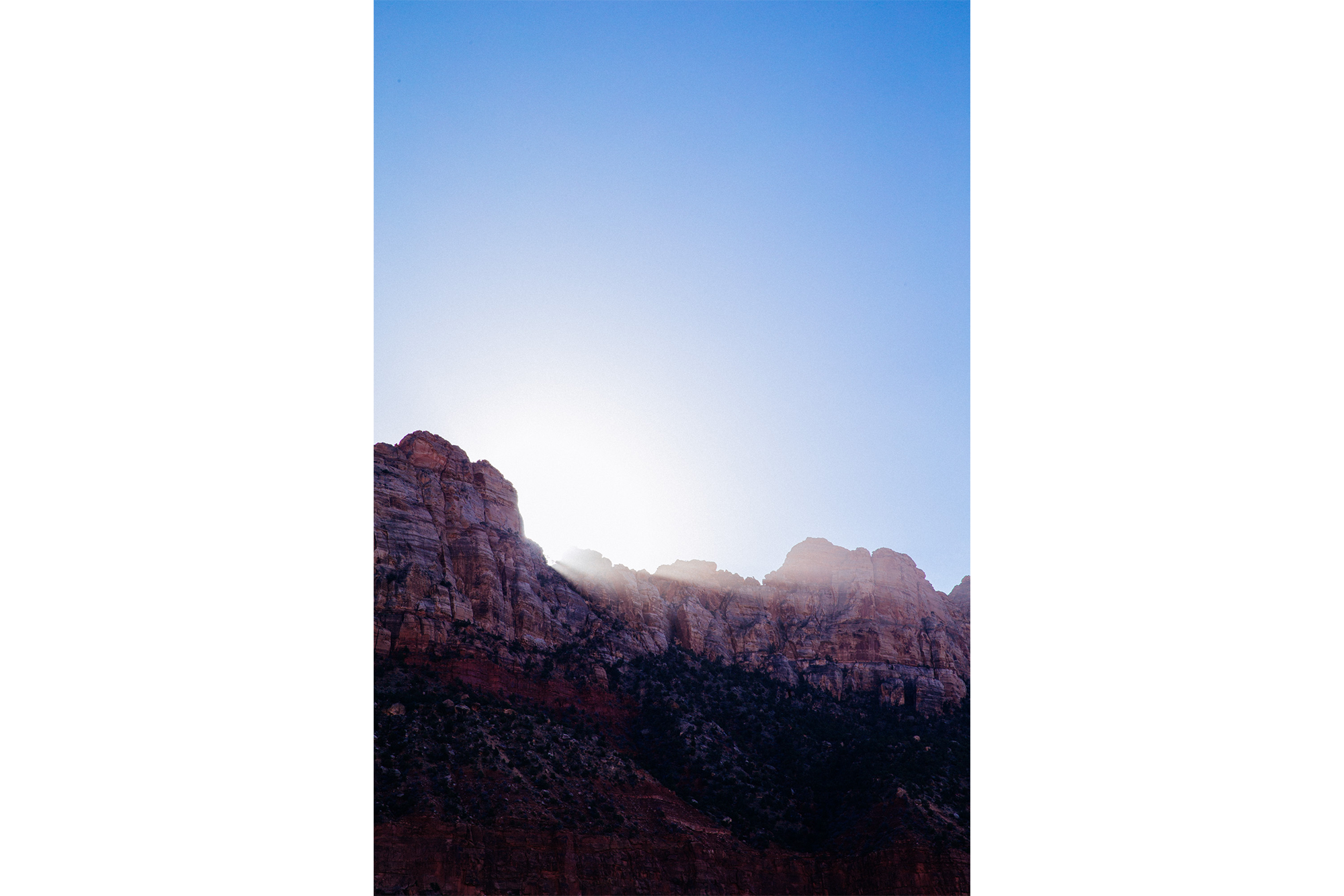 Sunrise in Zion.