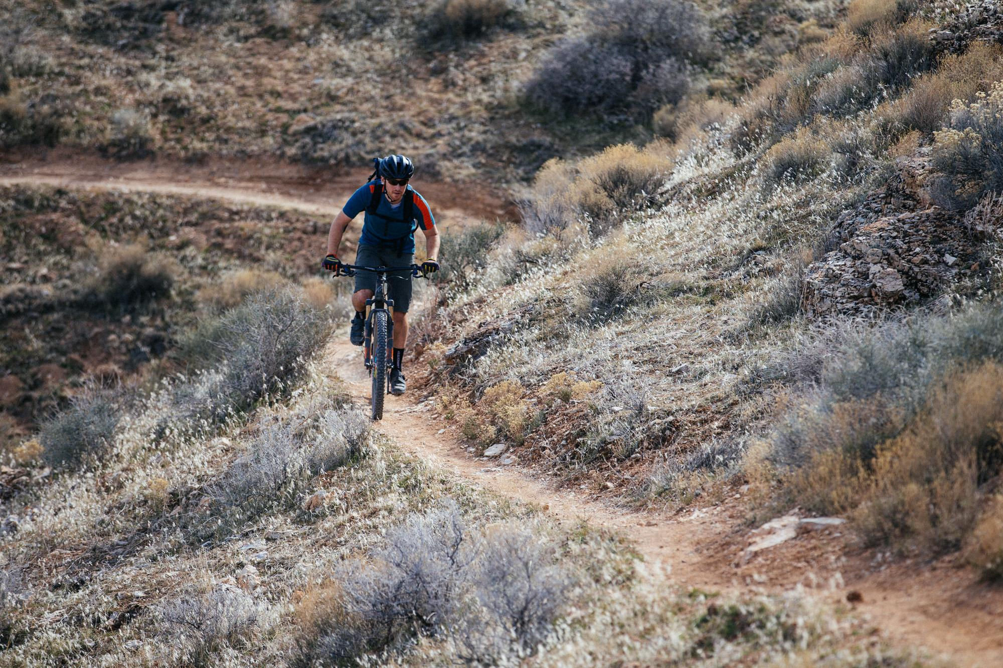 Most of the trail is flowy singletrack.