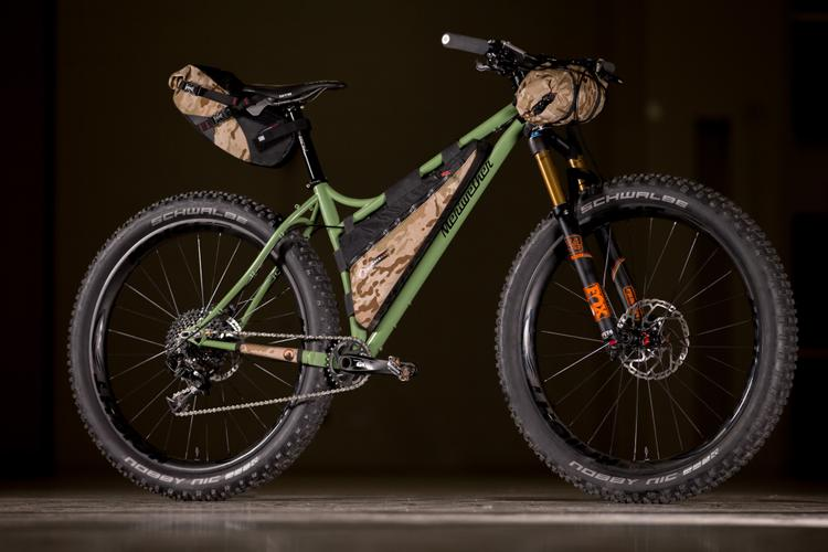 2017 NAHBS: Meriwether Hardtail with Bedrock Bikepacking Bags