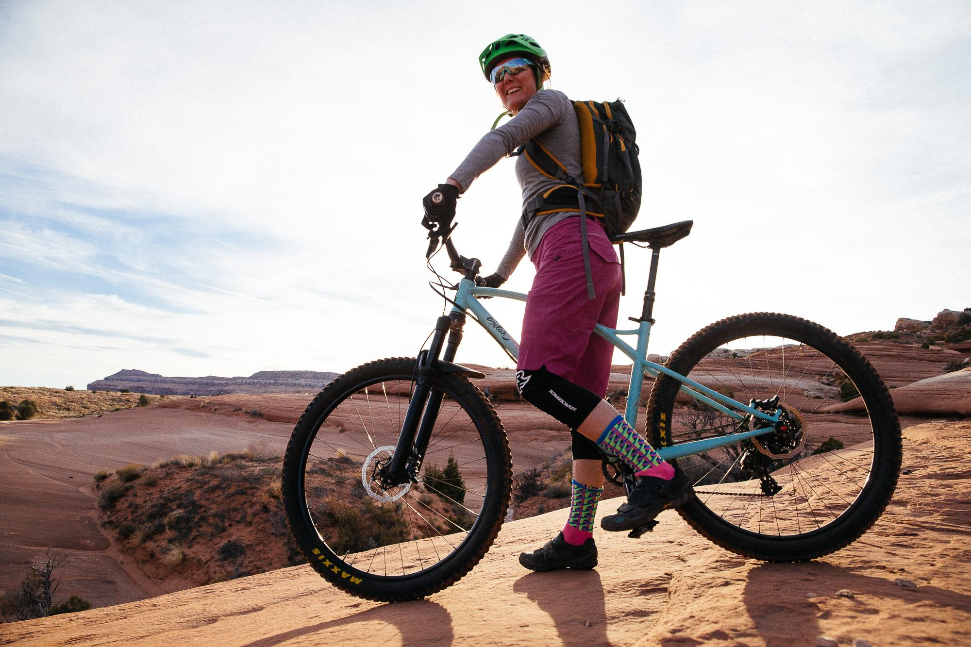 Katie and Her Shreddy Sklar Hardtail