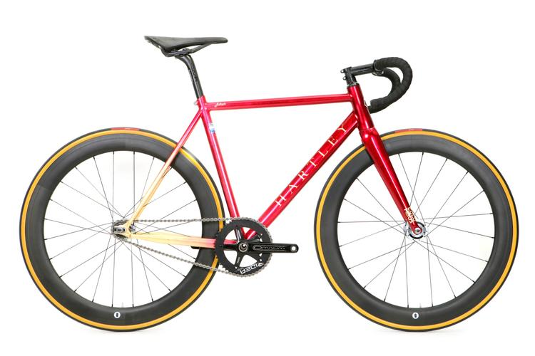 Juliet Elliot's Hartley Cycles Red Hook Crit Track Bike