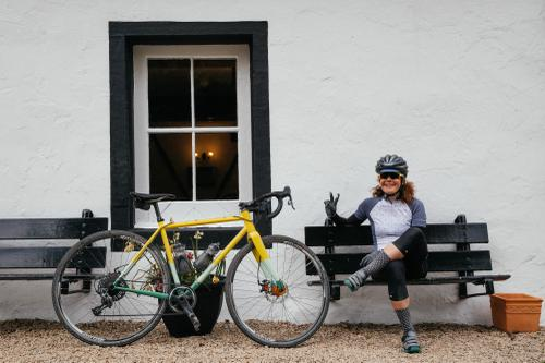 Adeline and Her Mercredi Cross Bike