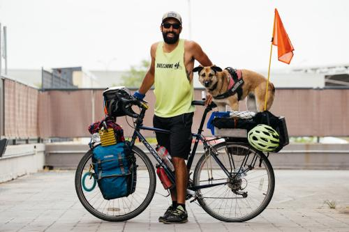 Pablo, the Spanish Ranger, was in the middle of a tour, when he diverted his journey to come back to Spain to meet up with us. Yes, he tours with his dog, Hippy.