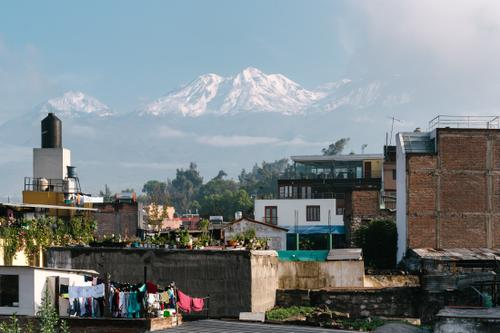 Nevado Chachani perched above the city of Arequipa
