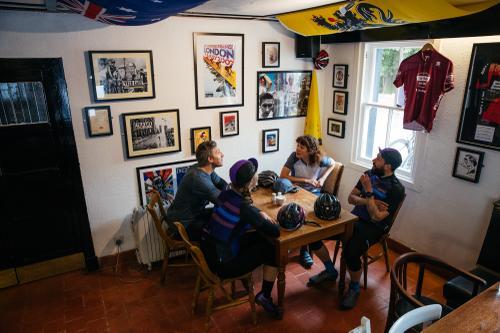 Coffee break at the Velo Cafe