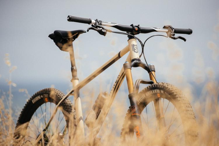 F*ck Yeah Desert Tan Stinner Frameworks Tunnel Hardtail with Box Components
