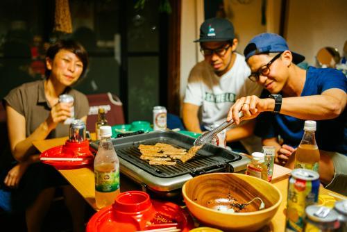 In-house BBQ in Kobe.
