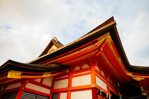 Kyoto architecture tourism.