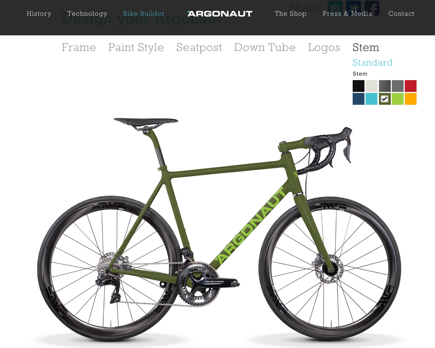 Build Your Dream Argonaut Cycles Road with their New Website