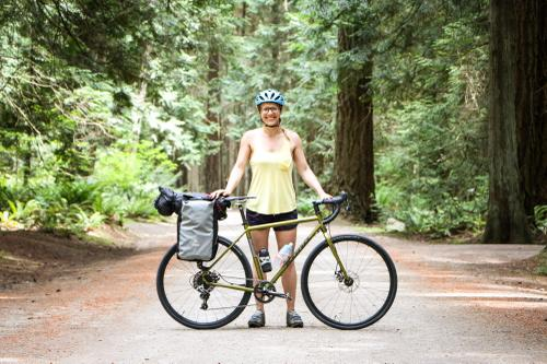 Michelle and her Kona Rove ST