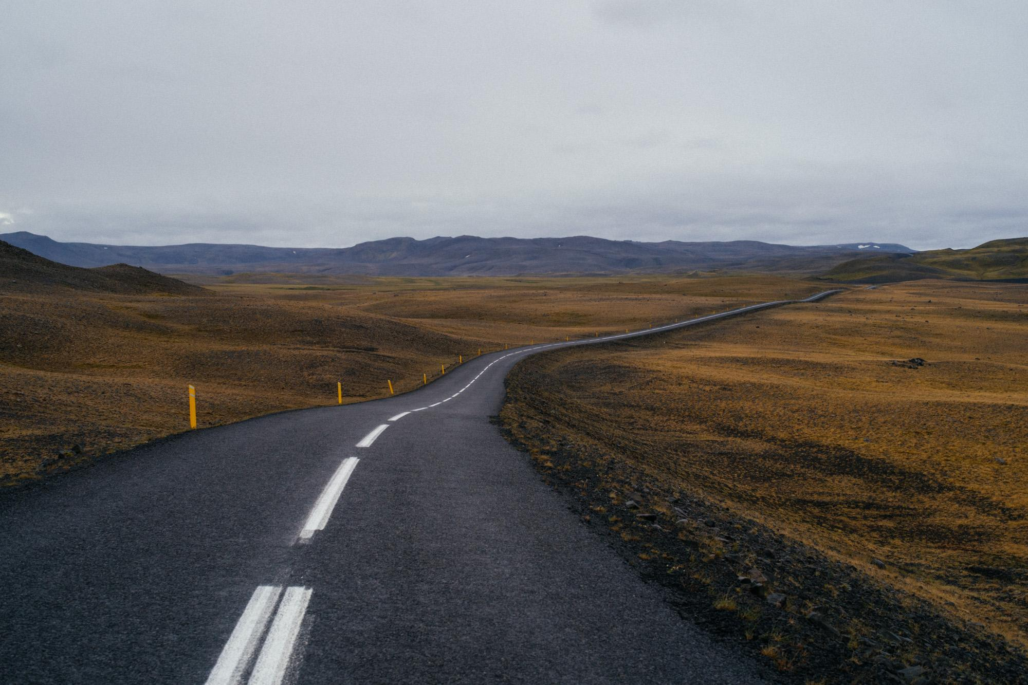 The long road to Landmannalaugar.