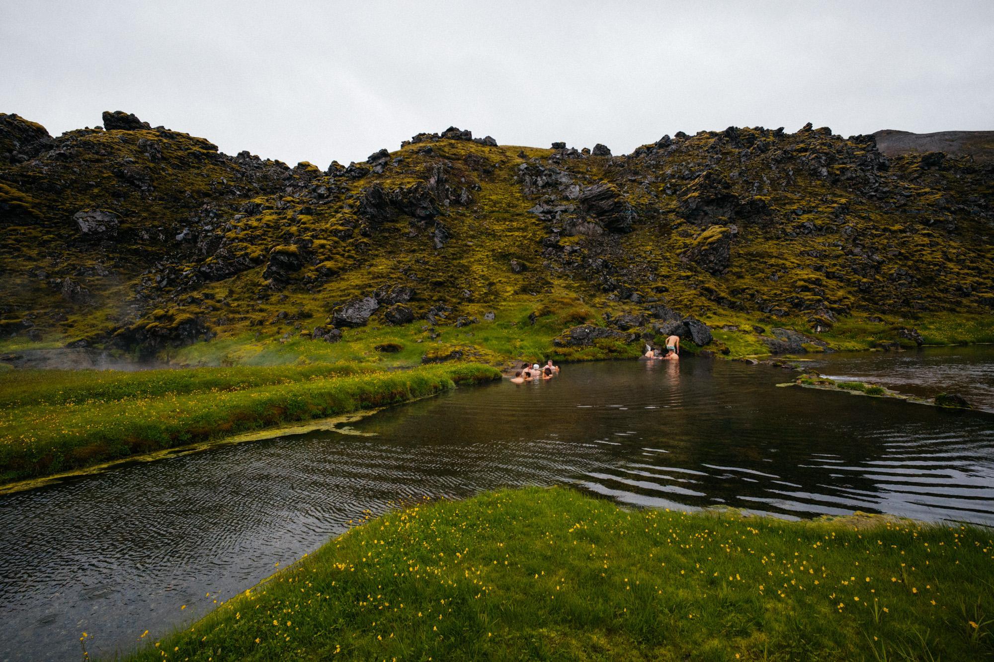 Landmannalaugar hot springs.
