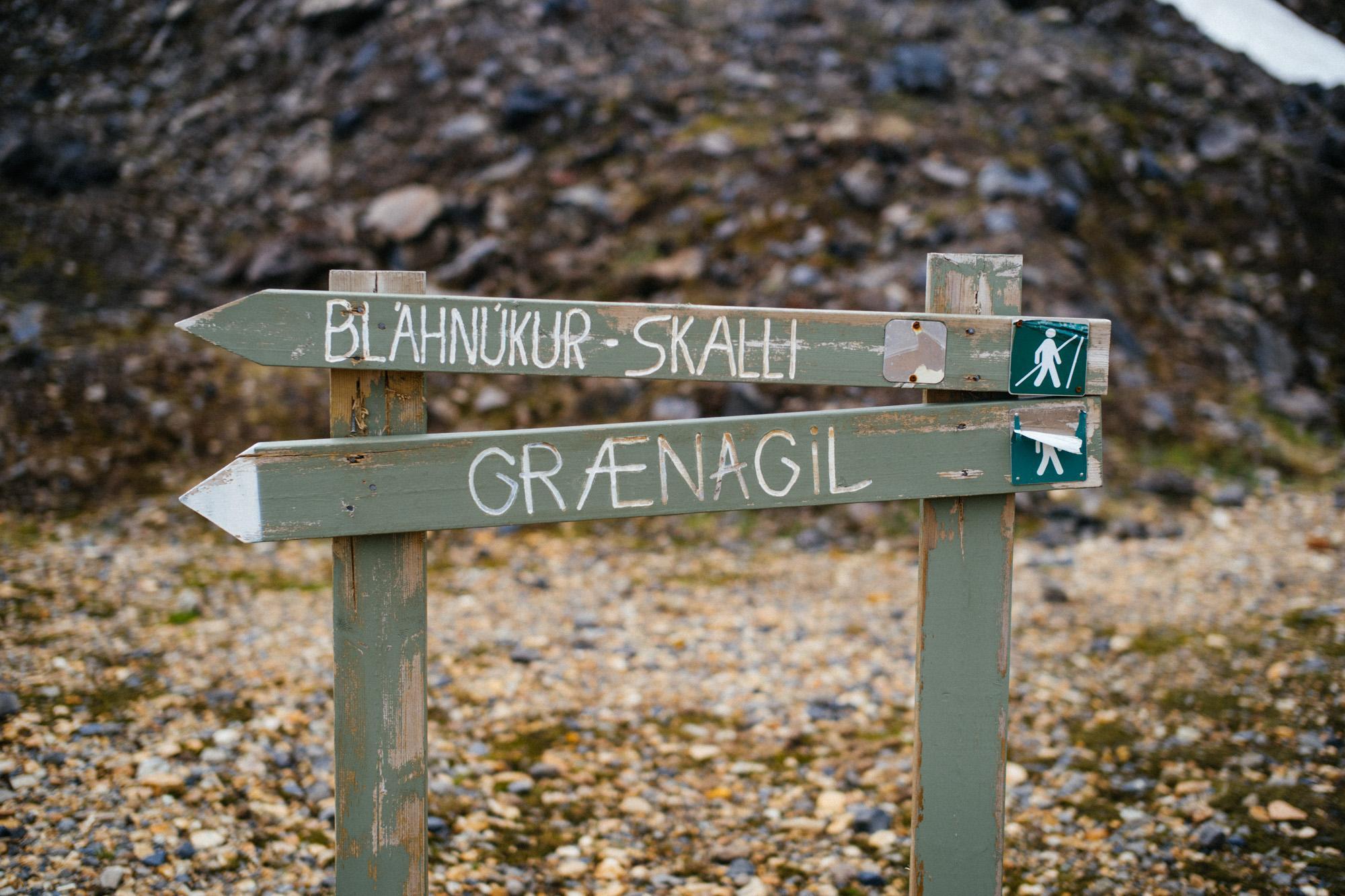 Hiking signage.