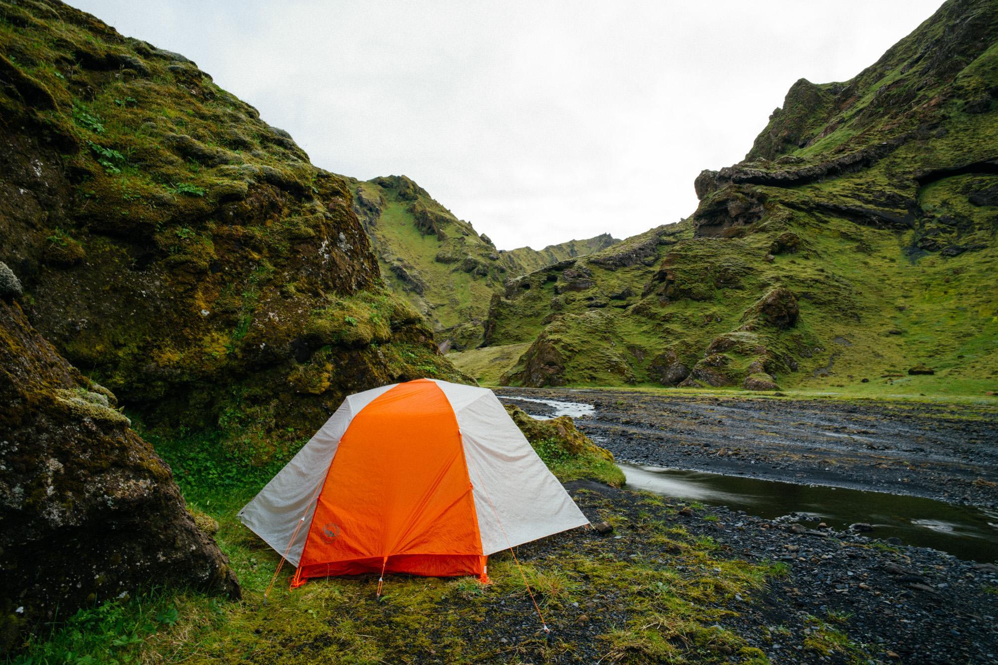 Camping at 2am.