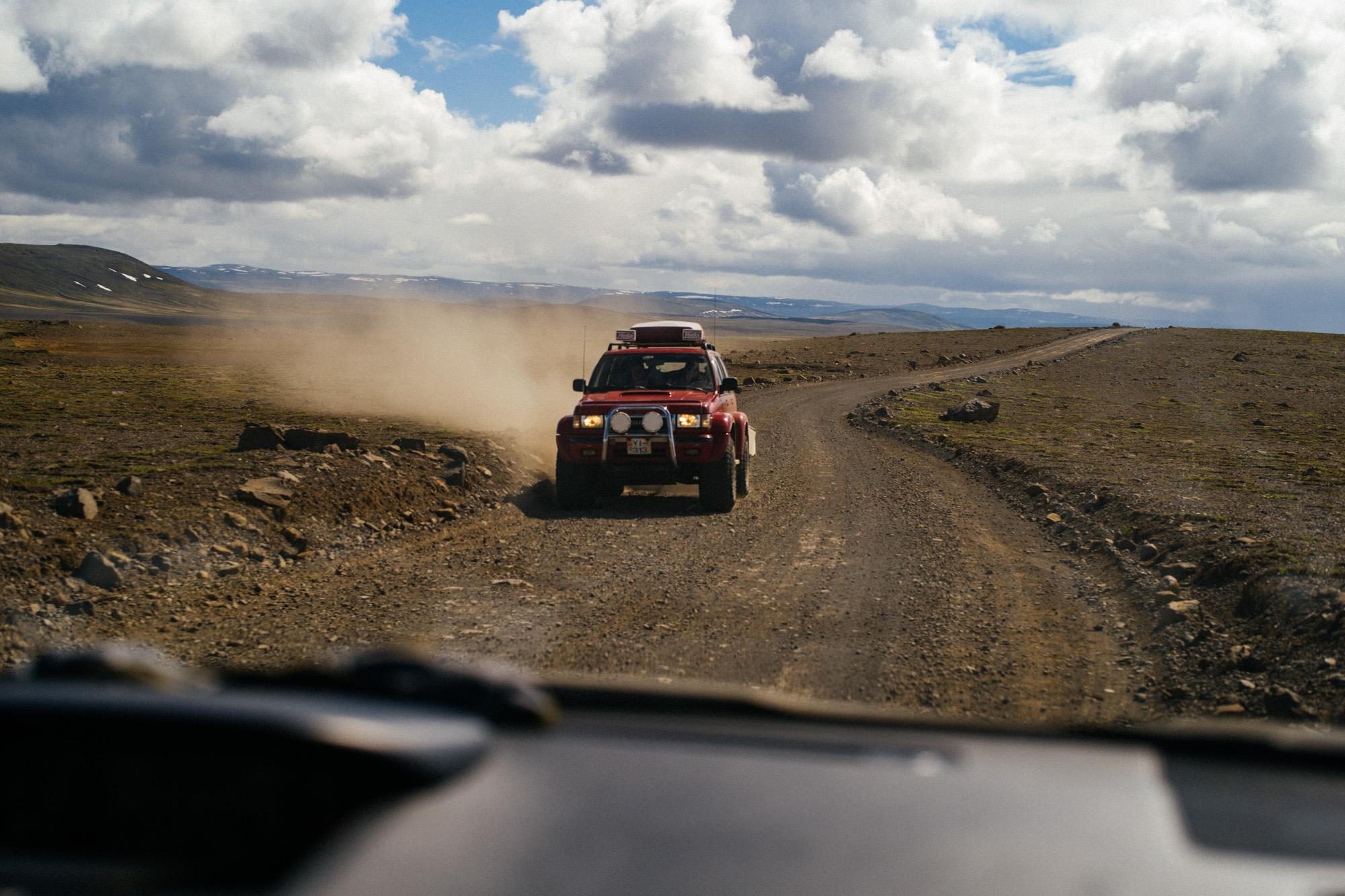 Nissan Patrol en route.