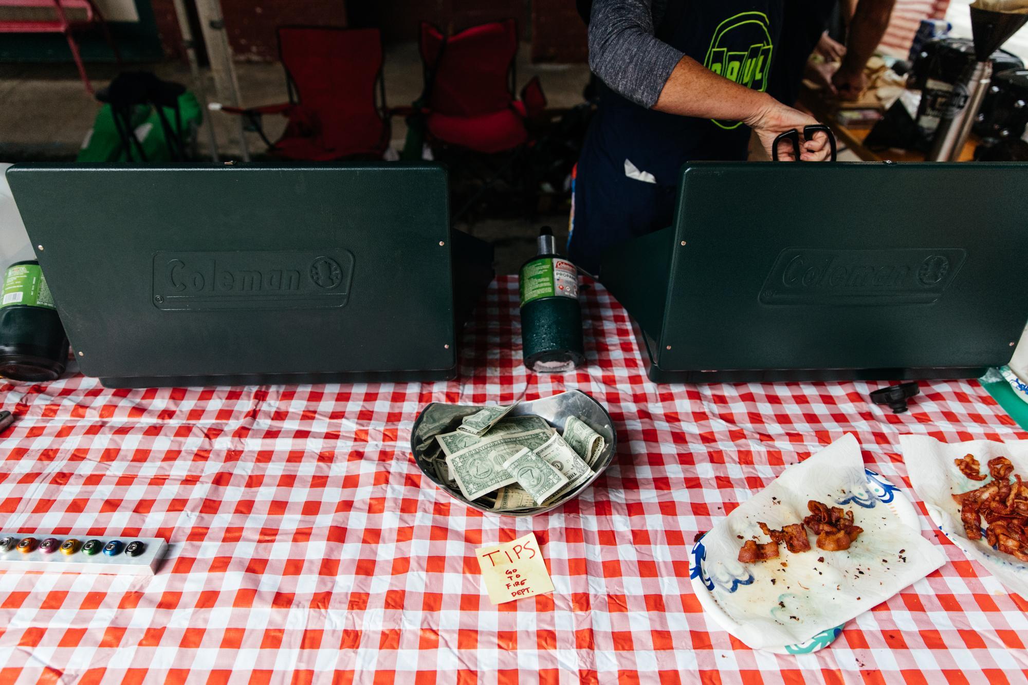 Paul's bacon and avocado sandwiches.