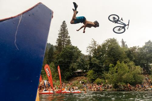 RIver jump!